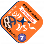 Level 7 Service Dog Lapel Pin In Training Task Work